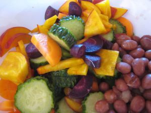Colorful vegetable salad in a bowl.