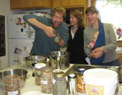 A photo of happy herbal product makers.