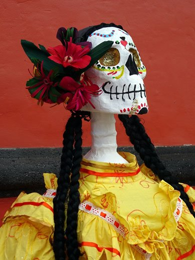 Skeleton In Celebratory Costume