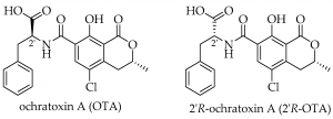 A diagram of ochratoxin.