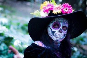 Photo of masked figure.