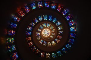 Stained Glass Sprial for Meditation/Prayer.