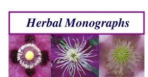 Herbal Monographs