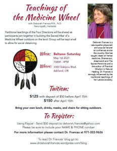 Teachings of the Medicine Wheel Class Details