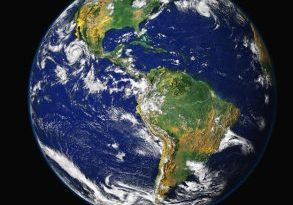 Photo of planet Earth.